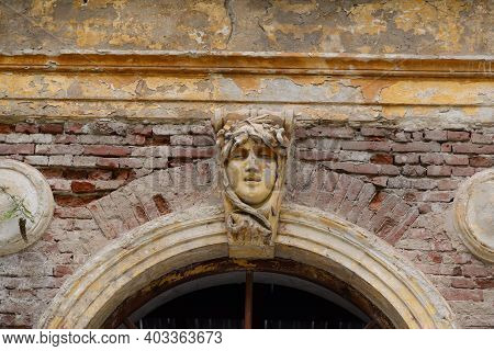 Baile Herculane Town Romania Old Thermal Bath Building Architecture Detail
