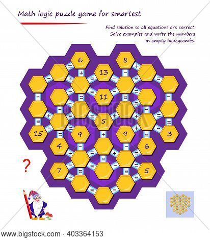 Mathematical Logic Puzzle Game For Smartest. Find Solution To All Equations Are Correct. Solve Examp