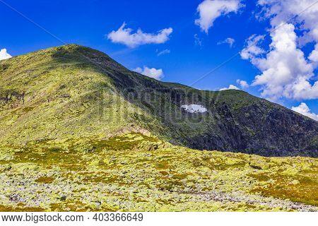 Amazing Norway Norwegian Landscape Boulders At Summit Top Of Mountain.