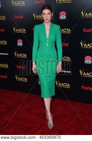 LOS ANGELES - JAN 04:  Emma Booth arrives for AACTA International Awards on January 04, 2019 in Los Angeles, CA