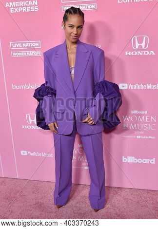 LOS ANGELES - DEC 12:  Alicia Keys arrives for the Billboard's 2019 Women in Music on December 12, 2019 in Hollywood, CA