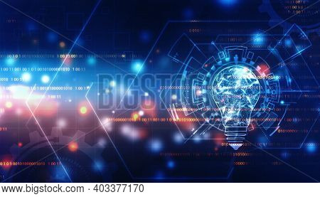 Future Technology, Innovation Background, Creative Idea Concept, Abstract Technology Background, Bul