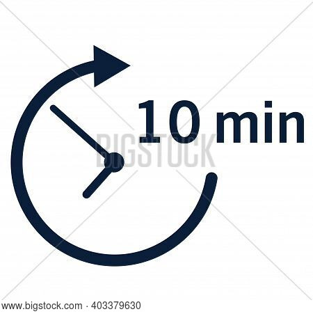 10 Min Icon. Vector Illustration. Icon. 10 Minute. Eps 10.