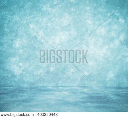snow room, frozen winter background