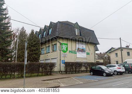 Pruszcz Gdanski, Poland - January 3, 2021: Gmina Pruszcz Gdanski, Pruszcz Gdanski Commune Office.