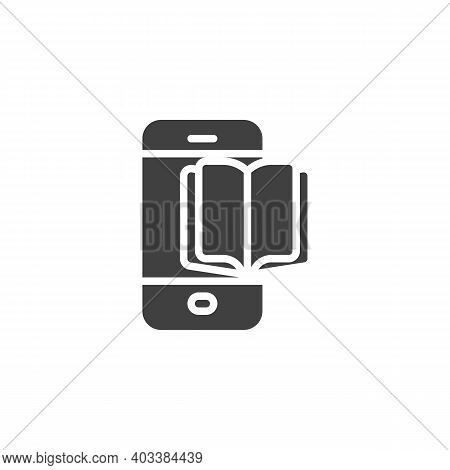 Phone Book Vector Icon. Filled Flat Sign For Mobile Concept And Web Design. Mobile Ebook Glyph Icon.
