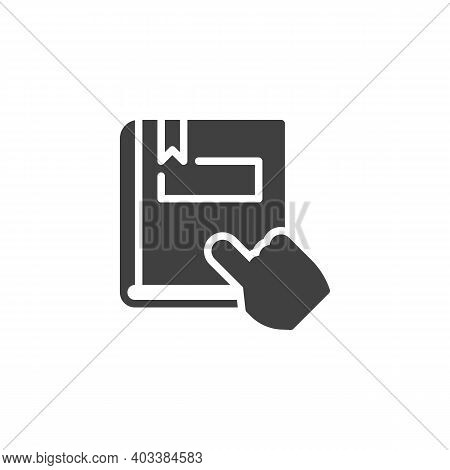 Reading Book Vector Icon. Filled Flat Sign For Mobile Concept And Web Design. Ebook Reading Glyph Ic