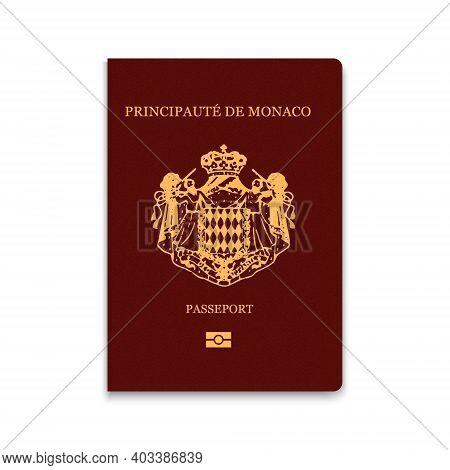 Passport Of Monaco. Citizen Id Template. Vector Illustration