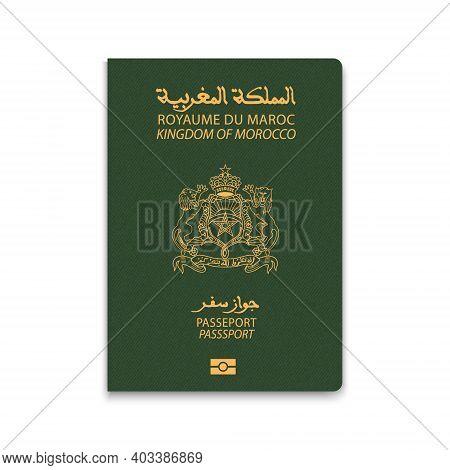 Passport Of Morocco. Citizen Id Template. Vector Illustration