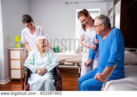 Fellowship Of The Nursing Home Occupants And Medical Staff, Nursing Home Care Concept