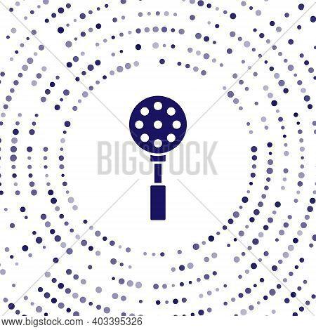 Blue Spatula Icon Isolated On White Background. Kitchen Spatula Icon. Bbq Spatula Sign. Barbecue And