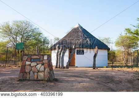 Kruger National Park, South Africa April 13 2016: Rabelais Gate Hut Near Orpen In Kruger National Pa