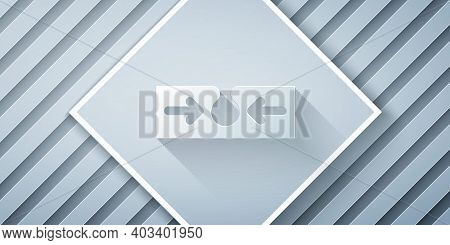 Paper Cut Acne Icon Isolated On Grey Background. Inflamed Pimple On The Skin. The Sebum In The Clogg