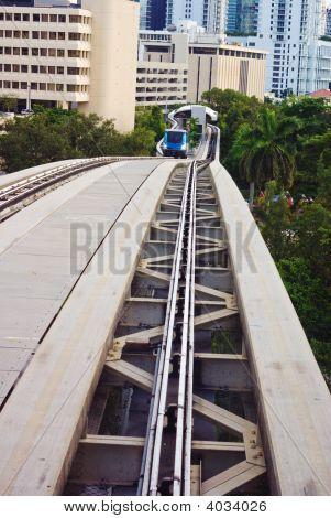 Urban Elevated Train Tracks
