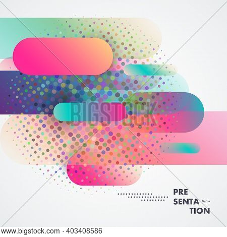 Abstract Dynamic Background. Flat Dynamic Shapes In Minimalistic Style