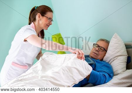 Elder Man Nursing Home Occupant Fell Asleep While Reading, Not Gone Without Nurse Noticing It And Co