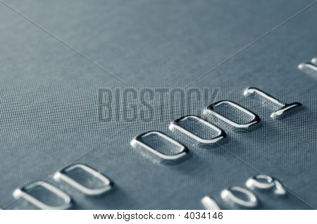 Close-Up Of Partial Credit Card Number, Shallow Dof