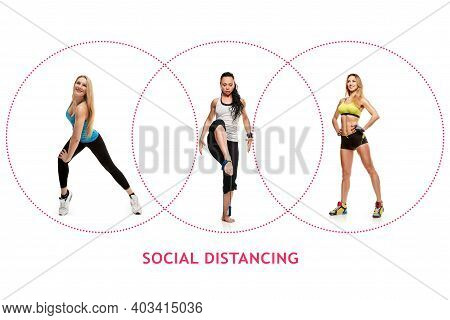 The Concept Of Actions That Can Be Performed Together, Physical Distance During Fitness Classes. Col