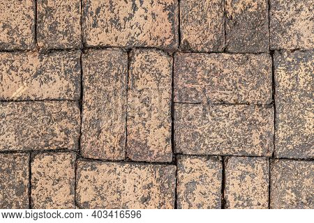 Red Terra Cotta Brick Floor Tile Pattern And Seamless Background