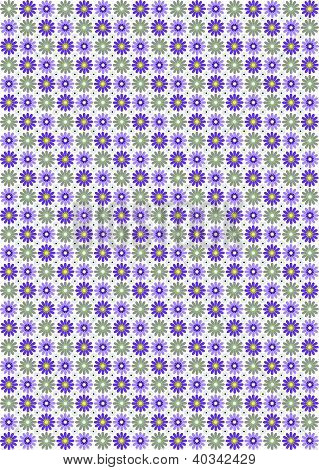 Blooming Colorful Flower Background & Wallpaper Pattern
