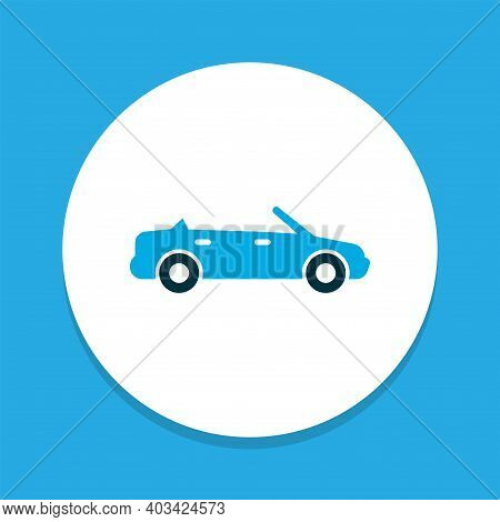 Convertible Model Icon Colored Symbol. Premium Quality Isolated Cabriolet Element In Trendy Style.