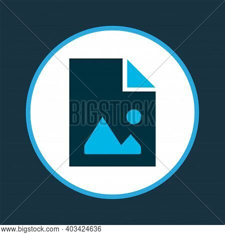File Image Icon Colored Symbol. Premium Quality Isolated Picture Element In Trendy Style.