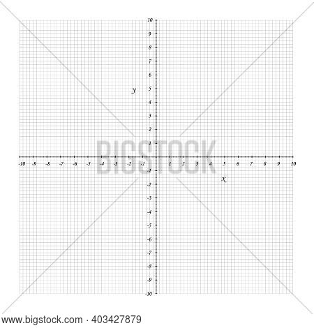 Cartesian Coordinate System Grid Two-dimensional. Vector Geometry And Algebra Scheme. Blank Workshee
