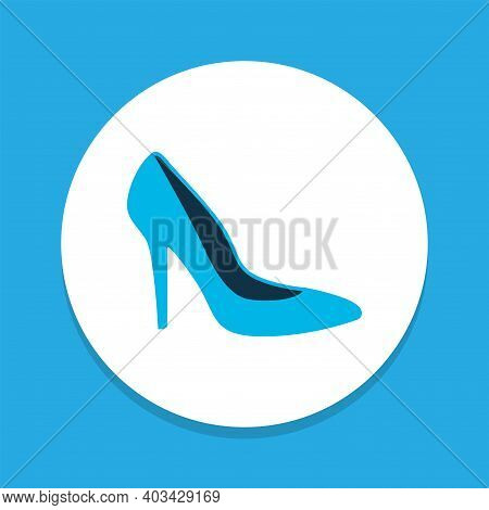 Heel Shoe Icon Colored Symbol. Premium Quality Isolated Stiletto Element In Trendy Style.