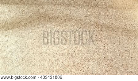 Light And Shadow On Surface Of Fiberboard Made Of  Bagasse Covered With Golden Paint, Copy Space