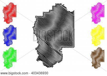 Granite County, Montana (u.s. County, United States Of America, Usa, U.s., Us) Map Vector Illustrati