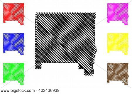 Hill County, Montana (u.s. County, United States Of America, Usa, U.s., Us) Map Vector Illustration,