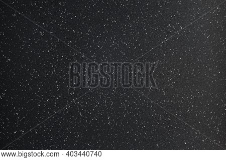 Abstract Black And White Photo Texture Background Of Grainy Powder Coating Surface With White Spots