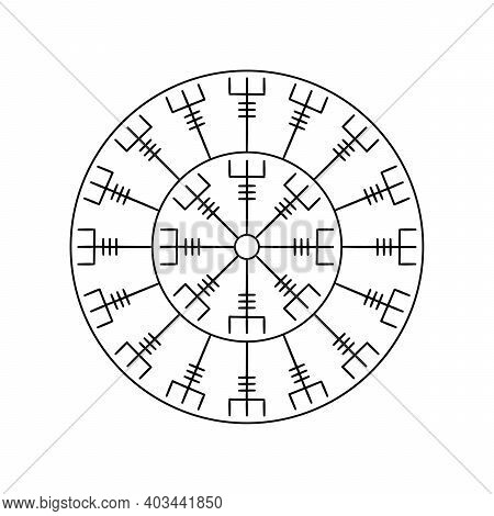 Magic Runic Symbols. Sacred Geometry, Symbols Of The Esoteric Mandala. Occult Ancient Symbols. Magic