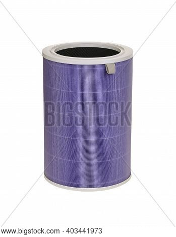 Three-layer Air Purifier Activated Carbon Antibacterial Filter Isolated On White Background With Cli