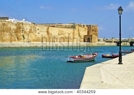 Fort of Bizerte in Tunisia in the summer poster