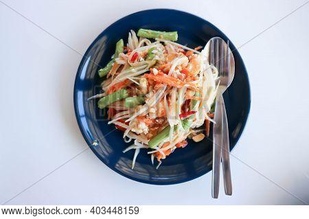 Papaya Salad Or Spicy Salad, Thai Salad