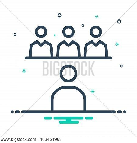 Mix Icon For Interview Job Internship Trainee Applicant