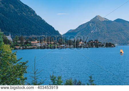 Bavaria, Germany: Famous Landscape At Lake Chiemsee.