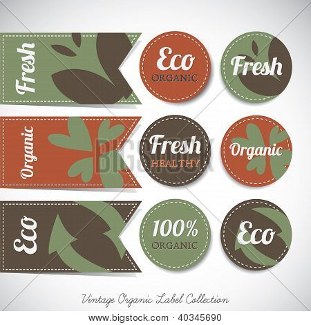 Vintage Organic Label Collection
