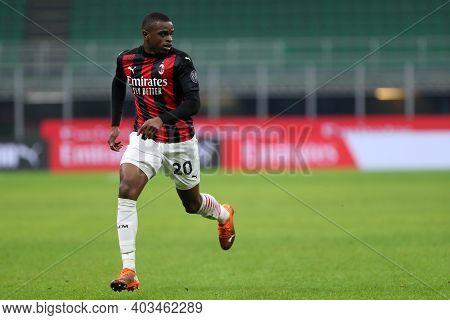 Milano, 12th January 2020. Pierre Kalulu Of Ac Milan  During The Coppa Italia Match Between Ac Milan