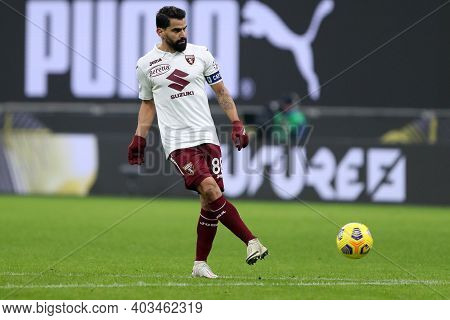 Milano, 12th January 2020. Tomas Rincon Of Torino Fc  During The Coppa Italia Match Between Ac Milan