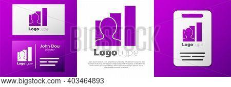 Logotype Productive Human Icon Isolated On White Background. Idea Work, Success, Productivity, Visio