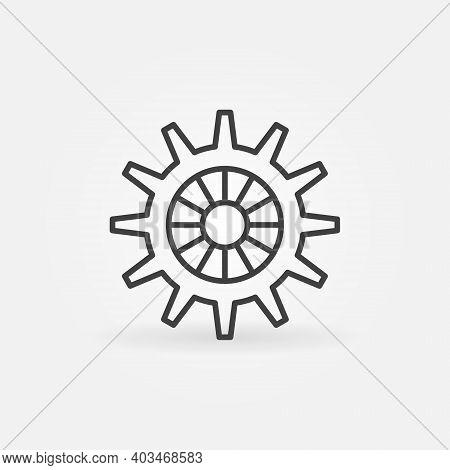 Vector Cog Wheel Concept Icon Or Symbol In Thin Line Style