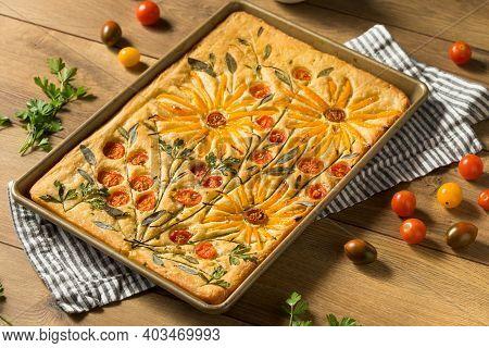 Homemade Flower Focaccia Bread Art