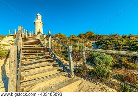 Stairs Leading Up To Bathurst Lighthouse In North Coast Of Rottnest Island, Near Perth, Western Aust