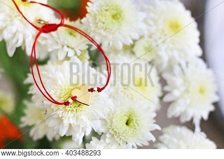 Love Bracelet - Gold Heart Bracelet - Valentines Day Gift