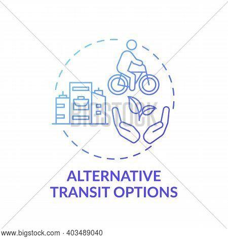 Alternative Transit Options Concept Icon. Workplace Wellness Idea Thin Line Illustration. Public Tra