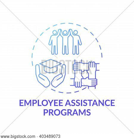Employee Assistance Programs Concept Icon. Occupational Stress, Burnout Idea Thin Line Illustration.