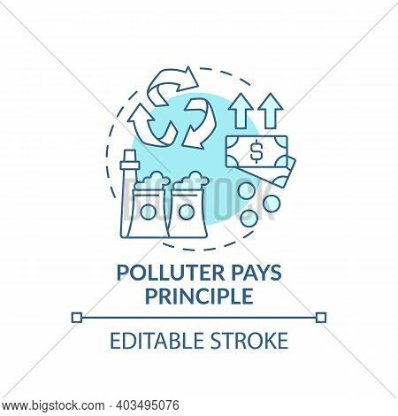 Disproportionate Principle Concept Icon. Environmental Legislation Idea Thin Line Illustration. Glob