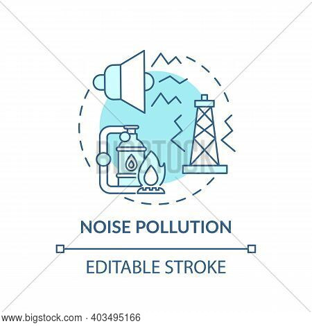 Noise Pollution Concept Icon. Climate Justice Idea Thin Line Illustration. Harmful Sounds. Vector Is